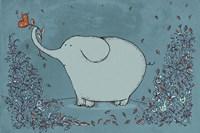 Garden Elephant Framed Print
