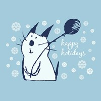 Christmas Party Cat by Carla Martell - various sizes
