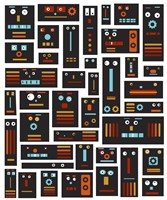Crazy Robot Friends by Carla Martell - various sizes - $38.49