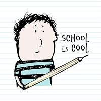 School Is Cool by Carla Martell - various sizes, FulcrumGallery.com brand