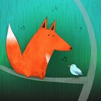 Fox In Tree Fine Art Print