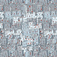 Robot City Pattern by Carla Martell - various sizes - $34.99