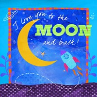 To The Moon by Fiona Stokes-Gilbert - various sizes