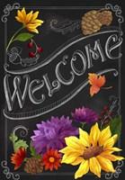 Chalkboard Welcome Fine Art Print