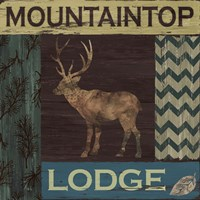 Mountain Lodge Fine Art Print