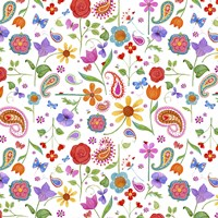 Petals & Paisley by Fiona Stokes-Gilbert - various sizes - $25.49