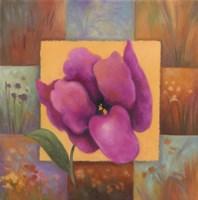 Purple Patchwork Fine Art Print
