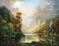 Fall Serene by John Zaccheo - various sizes, FulcrumGallery.com brand