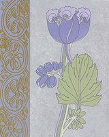 Blue Tulip With Left Border Framed Print