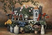 Flower Bench by John Zaccheo - various sizes