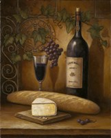 Wine And Cheese B by John Zaccheo - various sizes