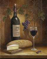 Wine And Cheese A by John Zaccheo - various sizes