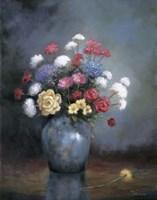 Floral D Framed Print