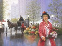 Central Park Flower Market by John Zaccheo - various sizes - $29.99