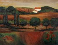 Crimson Light In Tuscany by John Zaccheo - various sizes