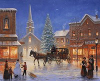 Christmas In Pleasantville by John Zaccheo - various sizes, FulcrumGallery.com brand