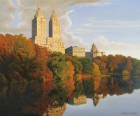 Autumn In Central Park Fine Art Print