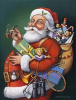 Saint Nick And All His Toys Fine Art Print