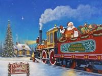 Santa Express Fine Art Print