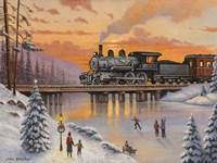 Railroad On The Ice Bridge by John Zaccheo - various sizes, FulcrumGallery.com brand