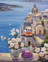 Mediterranian Roses by John Zaccheo - various sizes