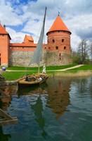 Island Castle by Lake Galve, Trakai, Lithuania I by Keren Su - various sizes