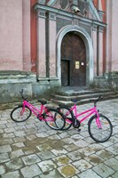 Bicycles Outside a Traditional House, Vilnius, Lithuania by Keren Su - various sizes