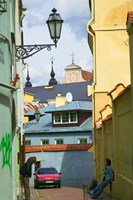 Traditional House in Old Town, Vilnius, Lithuania Fine Art Print