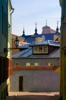 Traditional Houses in the old town, Vilnius, Lithuania by Keren Su - various sizes