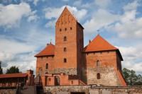 Island Castle by Lake Galve, Trakai, Lithuania V by Walter Bibikow - various sizes