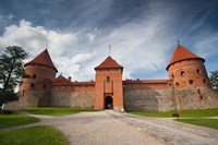 Island Castle by Lake Galve, Trakai, Lithuania VI by Walter Bibikow - various sizes