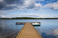 Lake and pier, Grutas, Southern Lithuania, Lithuania by Walter Bibikow - various sizes