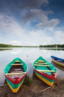 Lake Luka, Trakai Historical National Park, Trakai, Lithuania Fine Art Print