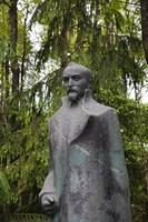 Lithuania, Grutas Park, Statue of Felix Dzezhinsky Fine Art Print
