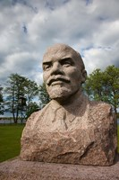 Lithuania, Grutas Park, Statue of Lenin I Fine Art Print