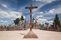 Lithuania, Siauliai, Hill of Crosses, Christianity I Fine Art Print