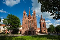 St Anne and Bernardine Churche, Vilnius, Lithuania Fine Art Print