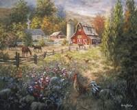 Grazing The Fertile Farmland Fine Art Print