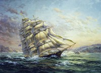 Clipper Ship Surprise Framed Print