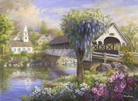 Picturesque Covered Bridge Fine Art Print
