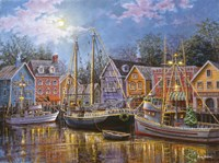 Ships Aglow Fine Art Print
