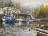 Gulls At The Marina Fine Art Print