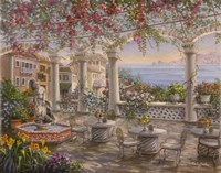 Dining On The Terrace Fine Art Print
