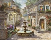 Cobblestone Fountain Fine Art Print