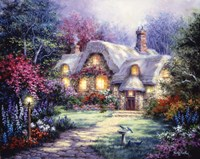 Garden Cottage Fine Art Print