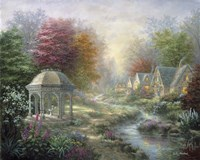 Gazebo Village Fine Art Print