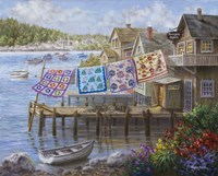 Dock Side Quilts Fine Art Print