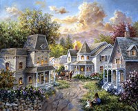 Main Street Along A Country Village by Nicky Boehme - various sizes