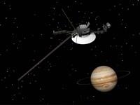 Voyager Spacecraft near Jupiter by Elena Duvernay - various sizes