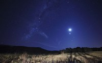 The Moon, Venus, Mars and Spica in a Quadruple Conjunction by Luis Argerich - various sizes
